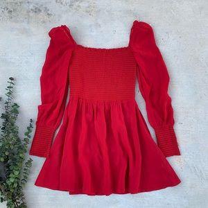44bbb359e169 Reformation Dresses - Reformation Kelli Smocked Bodice Fit & Flare
